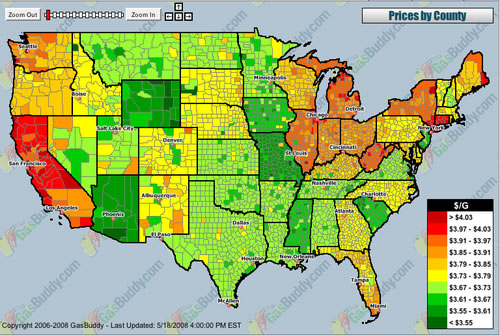 Us Gas Prices Map Gas Prices Map of the US | Apropos of Nothing